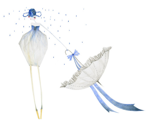 Blue Spring Bride by keszeg agnes