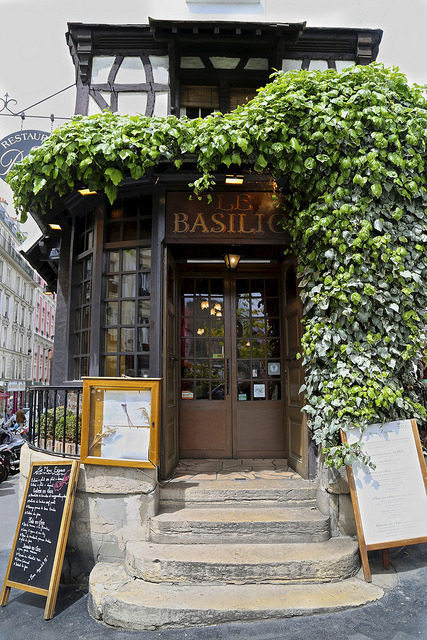 | ♕ |  Restaurant Le Basilic, Paris  | by © peaflockster | via ysvoice