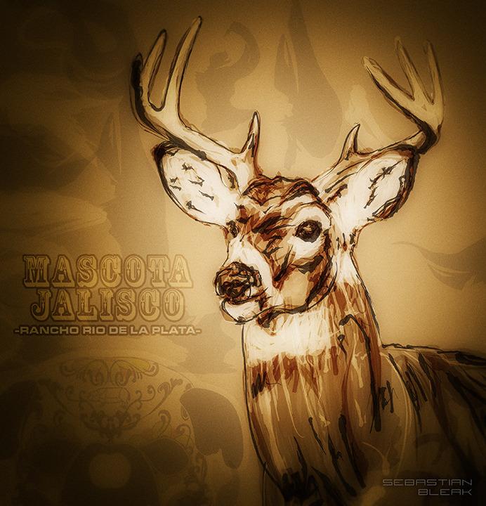 """""""El Venado"""" Deer drawing done in Ai CC"""