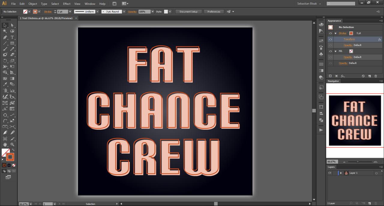 Text layout in Adobe Illustrator CS6
