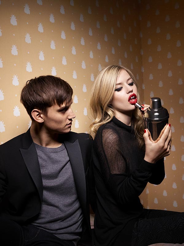 Another exclusive preview at the official Sisley Autumn-Winter 2013-14 campaign, starring Josh McLellan and Georgia May Jagger, shot by Olivier Zahm.