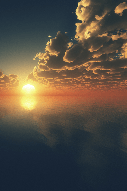 Beautiful Sky Awesome Blue Nature Ocean Sunset Vertical