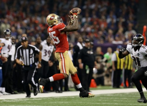 Tight end Vernon Davis played exclusively at receiver during the 49ers