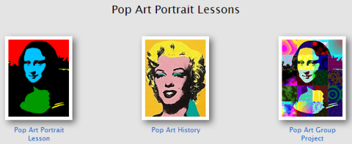 Pop Art Portraits Lessons And Templates This Lesson From