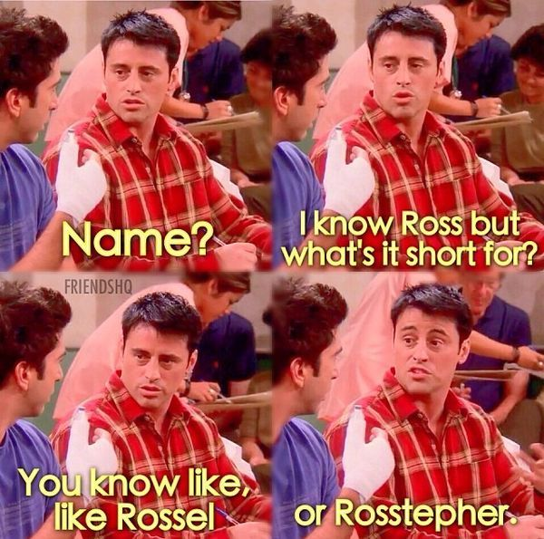 #Friendship #Quotes Friends Tv Show, Joey Tribbiani, Funny, Humour