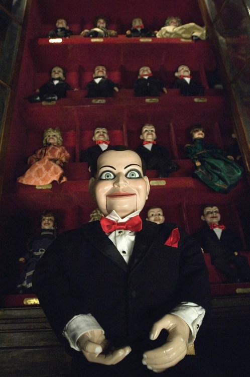 jasonfnsaint:</p> <p>Dead Silence (2007)</p> <p>Puppets terrify me.<br /> What if they suddenly come to life?<br /> Who will be pulling their strings?<br /> Will they attack us?<br /> Your nightmares will tell you,<br /> or at least mine will.
