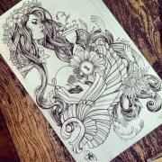 love hair girl cool hot draw tattoo