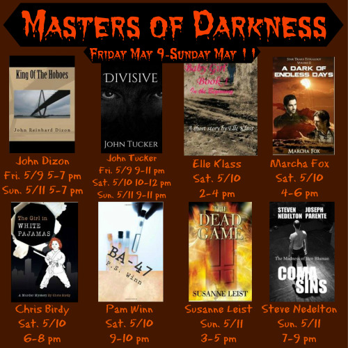 <br /> PARTY WITH THE DEAD</p> <p> MASTERS OF DARKNESS WEEKEND https://www.facebook.com/events/1486910988189382/ COME AND SPEND MOTHER'S DAY WITH ME. WITH ME AND THE DEAD. THERE WILL BE GAMES AND PRIZES. AND WE KNOW FROM THE DEAD GAME THAT THE DEAD LOVE PARTIES AND GAMES. THE DEAD GAME by SusanneLeisthttp://www.amazon.com/author/susanneleist http://www.outskirtspress.com/thedeadgame<br />