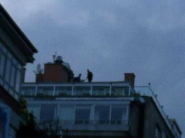 Police in Ankara have been spotted shooting plastic bullets from rooftops