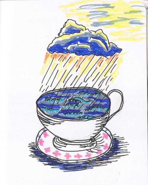 Bild eines Sturms in einer Kaffeetasse
