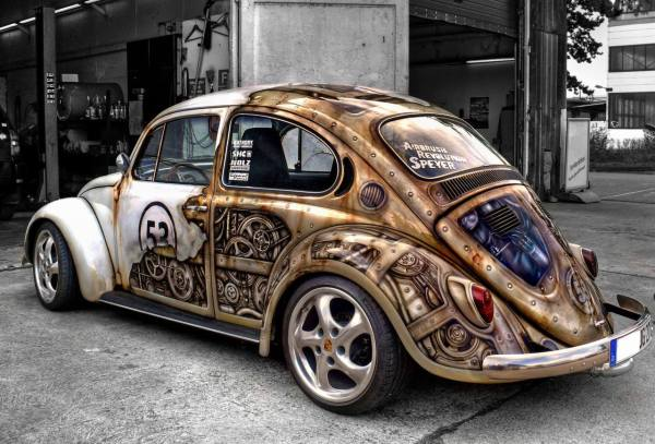 Steampunk VW Beetle