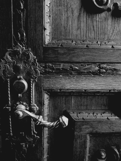 A closed door just tempts<br /> me to open it.<br /> I'm always curious to see<br /> what's on the other side.<br /> Close a door on me and<br /> I'll try to open it.<br /> Now that's clear to everyone,<br /> please open that door.