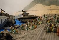 Matt's Brick Gallery  US Marines on Red Beach Iwo Jima ...