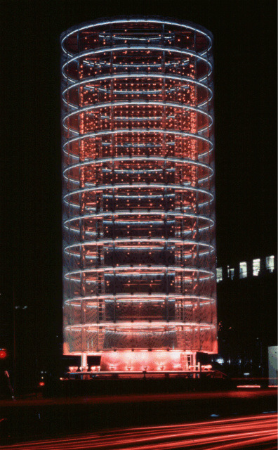Tower of Winds: Lighting system is modified by the intensity and direction of various light sources on the basis of natural light, weather conditions, wind speed and external noise.