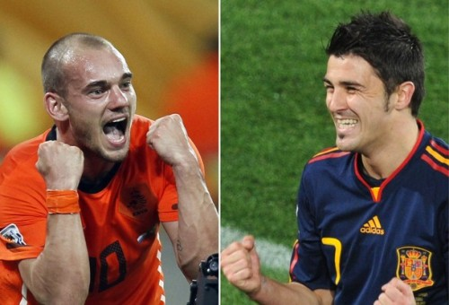 The Netherlands will clash with Spain in the final of the tournament at  Soccer City Stadium in Soweto, near Johannesburg,  on July 11, 2010.