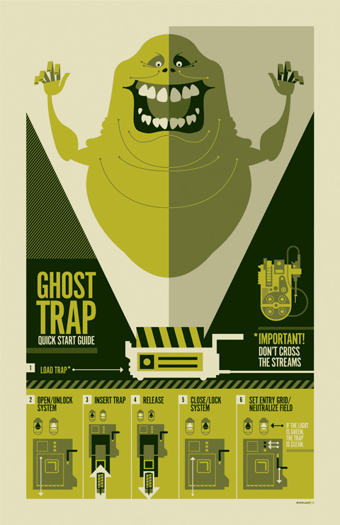 """ghostbusters"" inspired technical poster created for gallery 1988's upcoming 3G show. #fb"
