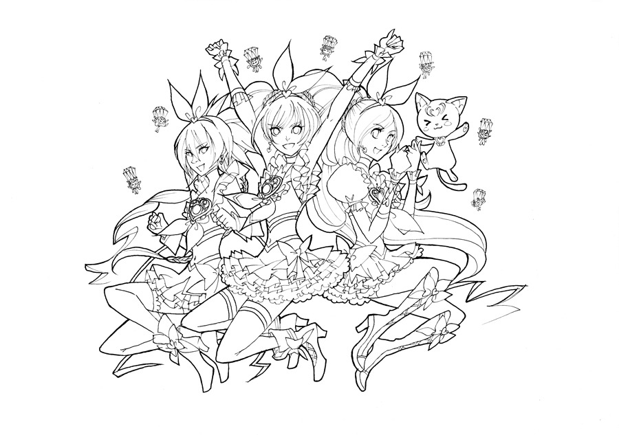 Doki Doki Precure Coloring Pages Coloring Pages