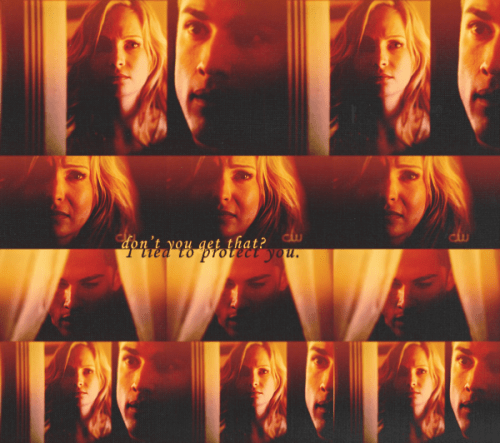 -starstruck:  Tyler: You lied to me!Caroline: I lied to protect my friends. I lied to protect you! Don't you get that?Tyler: Caroline…Caroline: You just stood there when they going to kill us! You just stood there, you didn't do anything!Tyler: I didn't know what to do.Caroline: You help your friends, that's what you do!Tyler: I'm sorry.Caroline: No it's too late. Cause you're not friends anymore.