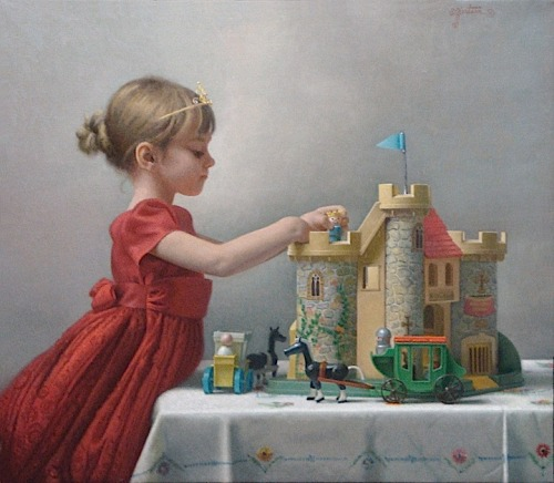 Stephen Gjertson, Cinderella Dreams, oil on canvas, 28 x 32.