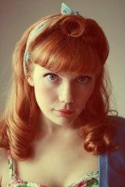 pin hair. modern vintage