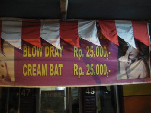 BLOW DRAY & CREAM BAT - Dari juriglagu