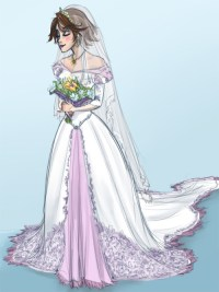 Tobira, Rapunzels wedding dress. Or just what I imagine...