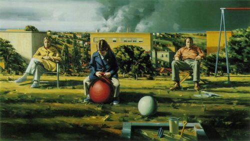 Sidney Goodman, Figures in a Landscape, 1972-3