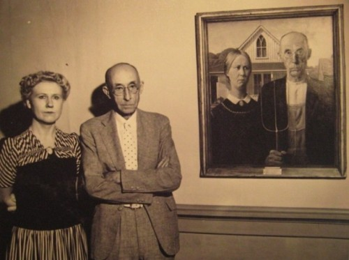 "warningdontreadthis: The models used in the ""American Gothic"" painting."