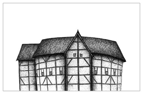 Sketch Of Globe Theater Coloring Pages