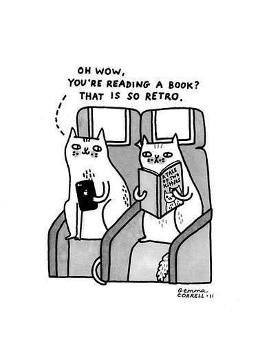 I will always read books.