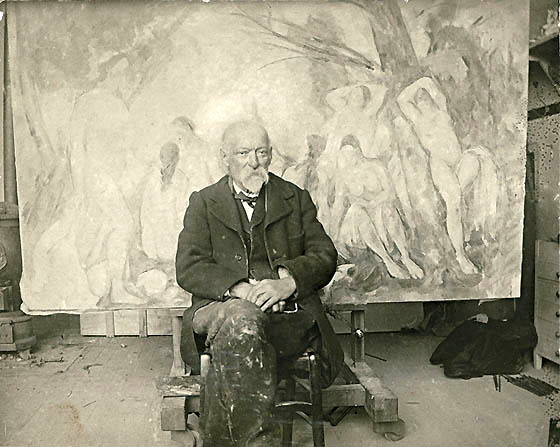 Paul Cezanne in 1904<br /><br /><br /><br /><br />photo by Emile Bernard