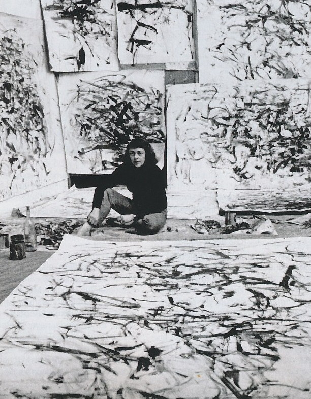Joan Mitchell in a Paris studio, 1957Life magazine photo by Loomis Dean