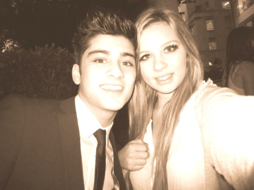 me and zayn! my eye looks so weird in this but he was so close to me!