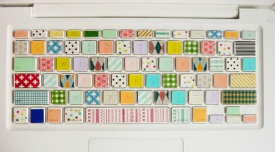 Pretty Things - Washi tape + toetsenbord