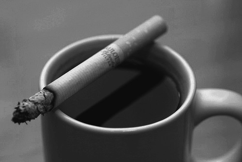 coffee smokes R.M. Engelhardt
