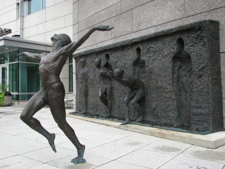 Sculpture Breaks Free by Zeno Frudakis