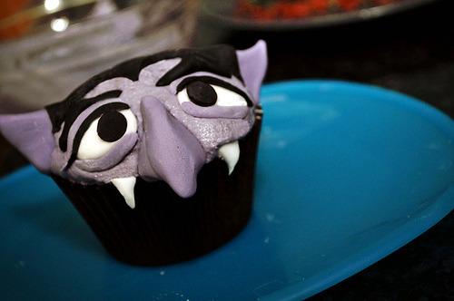 Count Dracula Cupcake