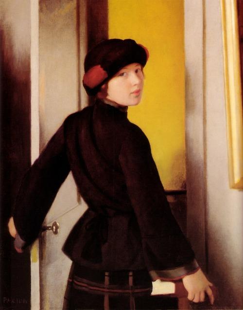 artandopinion:Leaving the Studio1912William McGregor Paxton