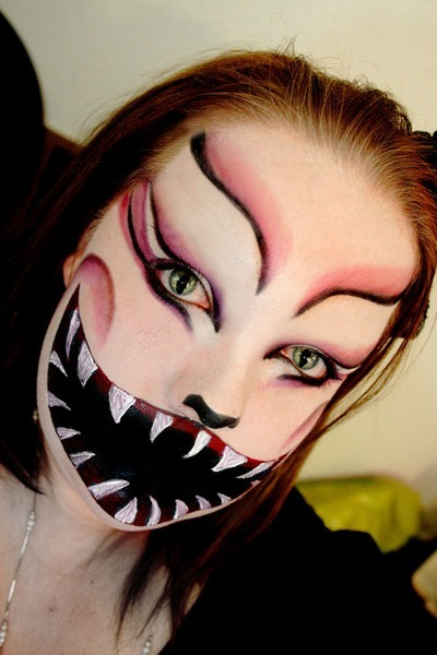 Have you checked out our roundup of scary Halloween makeup from our Beauties yet? Ashley G.'s Cheshire cat makeup is sure to keep you up at night!