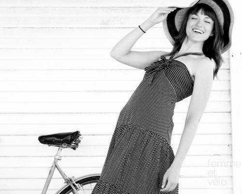 Model:VirginiaPhotographer:Zachary HuntStylist: Shari Gerstenberger (ofCharm School Vintage)Bicycle: 1970s Schwinn Suburban<br /> Clothing available for purchase atCharm School Vintagein Austin, Texas.