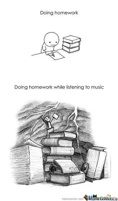 doing homework on Tumblr
