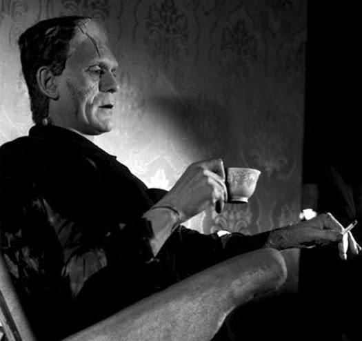 Boris Karloff - tea break on the set<br /><br />Happy Birthday today, November 23rd!  <3