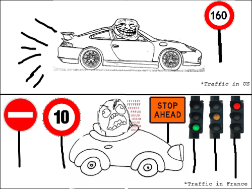 Troll Comics - Traffic in France….  Submitted by Massin