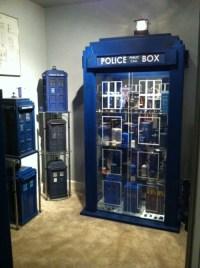 doctor who TARDIS china cabinets creamconecoffee