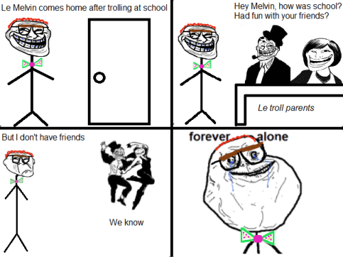 Troll Face Melvin - Forever Alone  Submitted by Mr. John