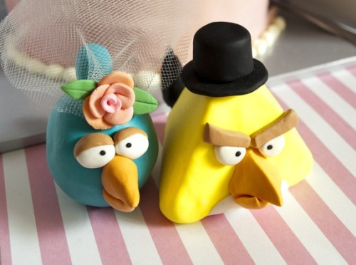 Angry Birds wedding cake