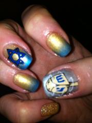 chanukah nail art night