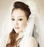 korean wedding hairstyle - spring