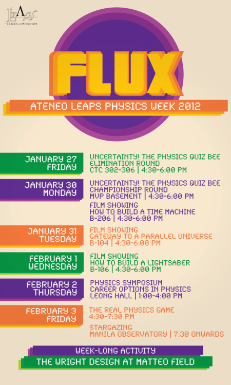 Ateneo Physics Week Jan 30 to Feb 3, 2012