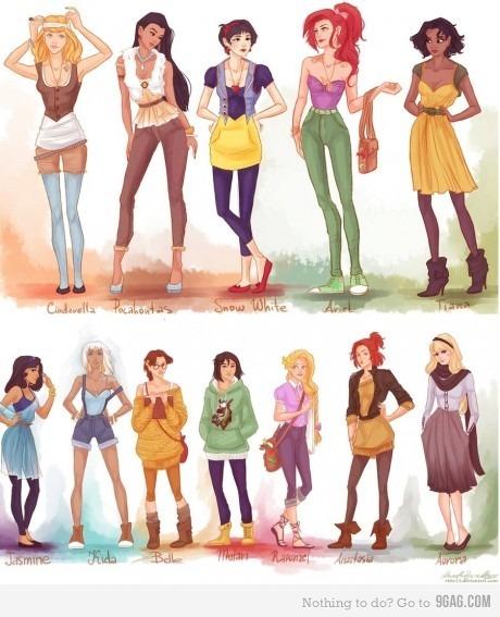Anastasia é a mais hipster, já que nem da Disney ela é...